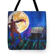 Scarecrow Dancing With The Moon Tote Bag