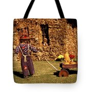 Scarecrows Play Too Tote Bag