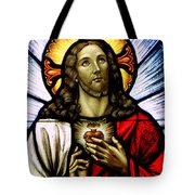 Scared Heart Of Jesus Tote Bag