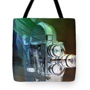 Scarf Camera In Negative Tote Bag