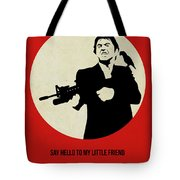 Scarface Poster Tote Bag by Naxart Studio