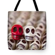 Scarlet And White Tote Bag