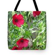 Scarlet Flax Tote Bag