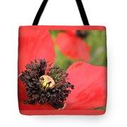 Scarlet Poppy Macro Tote Bag