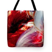 Scarlet Swirls Abstract Tote Bag