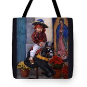 Scary Ride At Guadalupe Festival Tote Bag