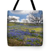 Scattered Bluebonnets Tote Bag