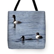 Scaup Ducks In The Spring Tote Bag