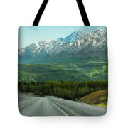 Scenic Drive On The Glenn Highway Tote Bag