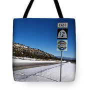 Scenic Highway 12 With Snow Utah Tote Bag