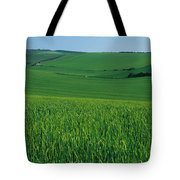 Scenic View Of A Field, South Downs Tote Bag