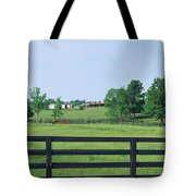 Scenic View Of Horse Farm, Woodford Tote Bag