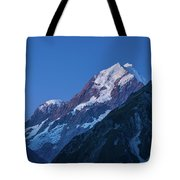 Scenic View Of Mountain At Dusk Tote Bag