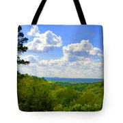 Scenic View Of So Mo Ozarks - Digital Paint Tote Bag