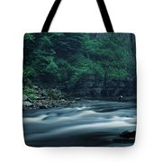 Scenic View Of Waterfall, Teesdale Tote Bag