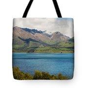 Scenic View On Lake Wakatipu Tote Bag