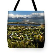 Scenic View Overlooking The Town Of Tote Bag