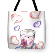 Scented Candle With Love Tote Bag