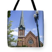 Schenectady Bell Tower Tote Bag