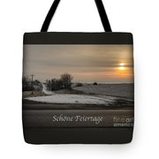 Schone Feiertage With A Winter Sunrise Tote Bag