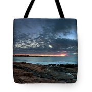 Schoodic Point Sunrise 7218 Tote Bag
