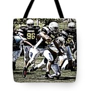 School Boy Right Tote Bag by Bob Hislop