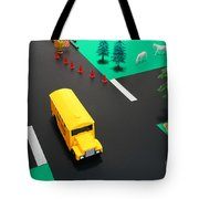 School Bus School Tote Bag