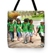 School Children In Gyeongju Korea Tote Bag