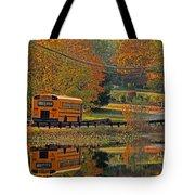 School Days Of Autumn Tote Bag