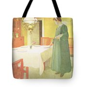 School Household, Dining Room Scene Tote Bag