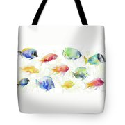 School Of Tropical Fish Tote Bag