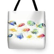 School Of Tropical Fish Tote Bag
