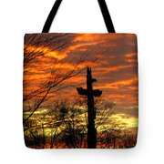School Totem Pole Sunrise Tote Bag