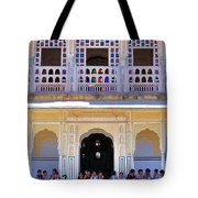 Schoolchildren At The Women's Palace - Jaipur India Tote Bag