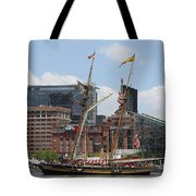 Schooner Arriving At Baltimore Inner Harbor Tote Bag