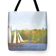 Schooner Castine Harbor Maine Tote Bag