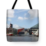 Schooner Comming Back To Baltimore Harbor Tote Bag