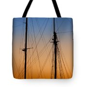 Schooner Masts Martha's Vineyard Tote Bag by Carol Leigh