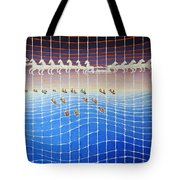 Schooner Race Horse Clouds Tote Bag