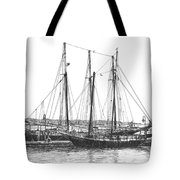 Schooners On The York River Tote Bag