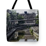 Schuylkill Canal In Manayunk Tote Bag by Bill Cannon