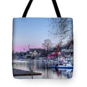 Schuylkill River And Boathouse Row Philadelphia Tote Bag