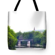 Schuylkill River At Manayunk Philadelphia Tote Bag by Bill Cannon