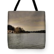 Schuylkill River On A Cloudy Day Tote Bag by Bill Cannon