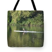 Schuylkill Rower Tote Bag by Bill Cannon