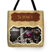 Science Button Tote Bag by Mike Savad