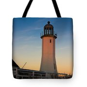 Scituate Lighthouse In Oct Tote Bag