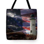 Scituate Strong Protecting American Shoreline Tote Bag