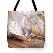 Scoop Of Flour And Fresh Bread Tote Bag