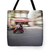 Scooter In Paris Tote Bag